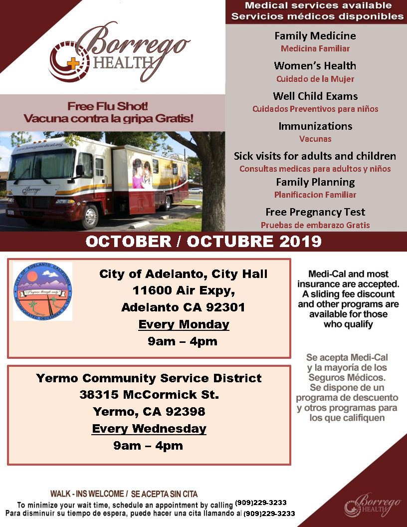 October 2019 Mobile Flyer