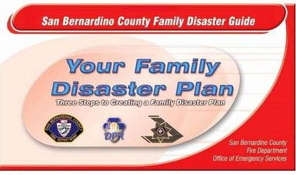 San Bernardino County Family Disaster Guide: Your Family Disaster Plan